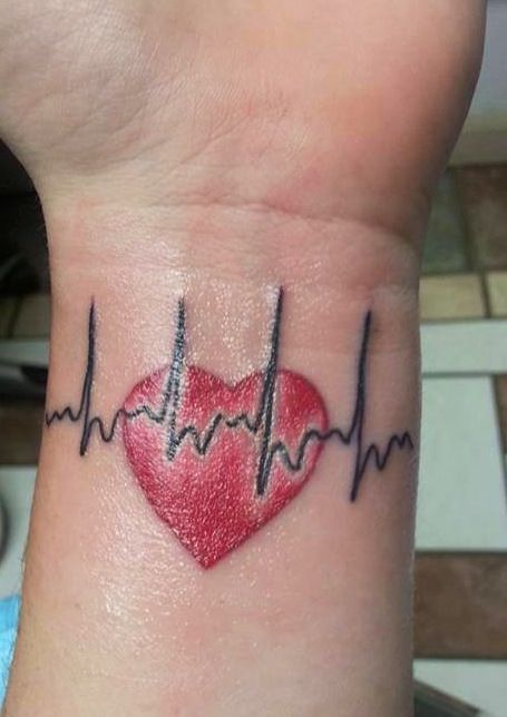 One of our heart moms recently got this tattoo of her little heart warriors actual EKG. How cool is that?! You can follow them at... https://m.facebook.com/TeamPipsqueak
