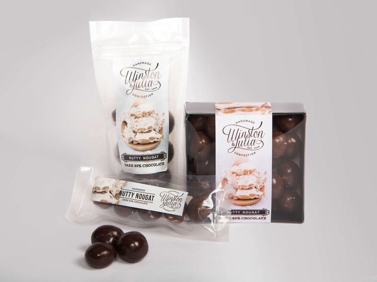 Packaging design for Winston & Julia by Pink Pigeon Graphic Design © www.pinkpigeon.co.za