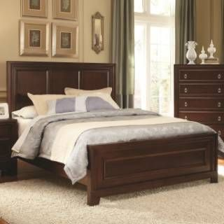 coaster furniture 202191q nortin queen panel wood bed in dark cherry bedroom furniture setsbedroom