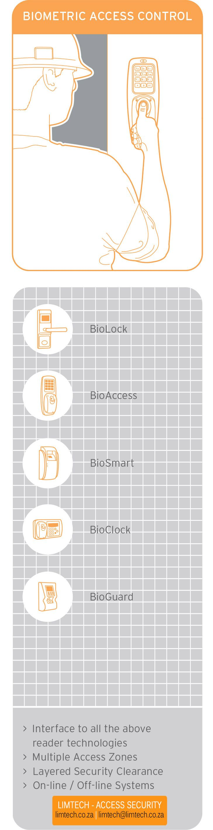 Biometric access control offers you a secure solution for restricted areas
