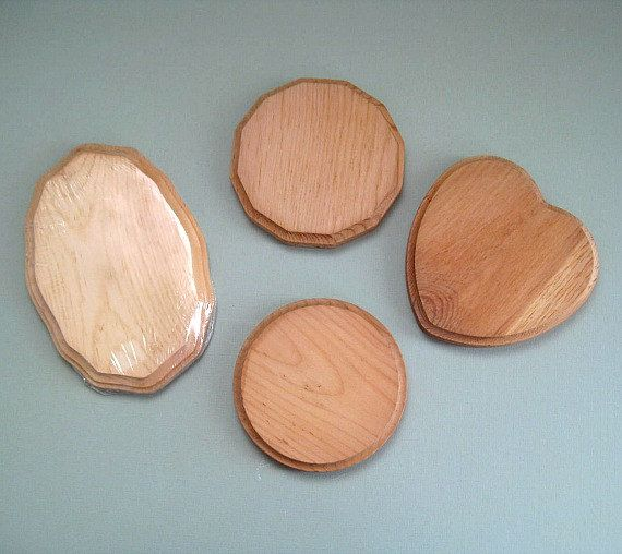 Craft Wood Plaques Natural Wood Shapes Pine Wood Hearts Wooden Plaques Unfinished Wood Rounds Wood Circles Craft Plaques Small Oval Beveled by afloralaffair on Etsy