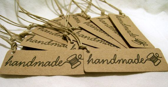 Set of 50 Handmade Tags for your Handmade by JsCraftyStudio, $16.50