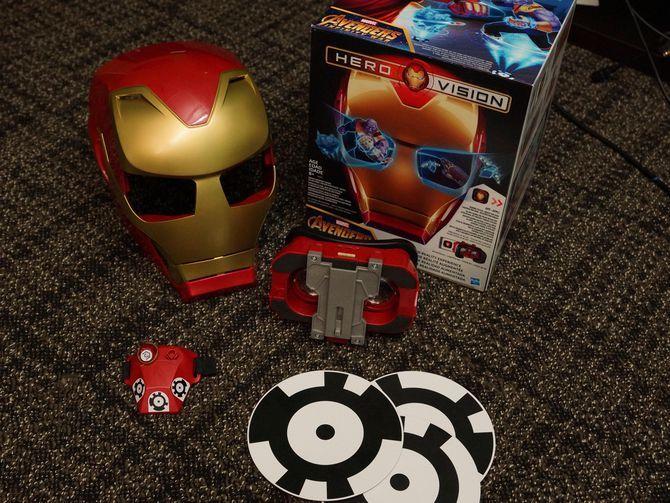 Fotos de Hero Vision de Hasbro. Juguete de realidad aumentada. Iron Man