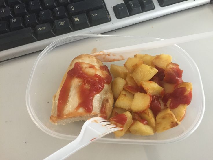 Left over sw chilli cubes and a chicken breast. With 2 syns of ketchup