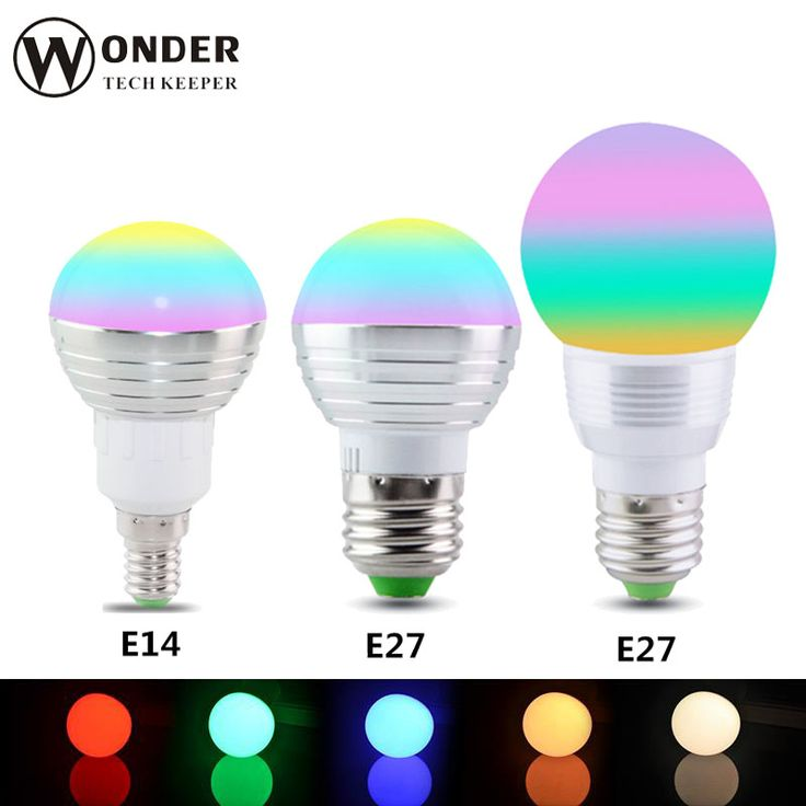 RGB LED Bulb E27 E14 GU10 3W/5W LED Lamp Light Led Spotlight Spot light Bulb 16 Color Change Dimmable +24Keys Remote Controller