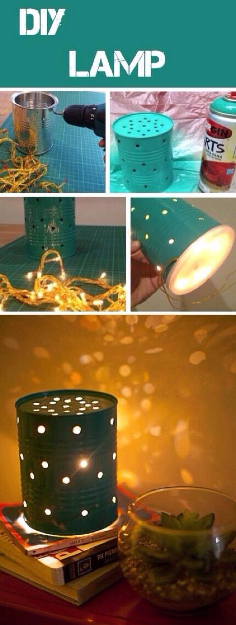 adorable lamp! I could do this for Christmas and use colored lights!