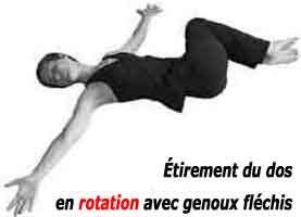 étirement du dos en rotation contre le mal de dos