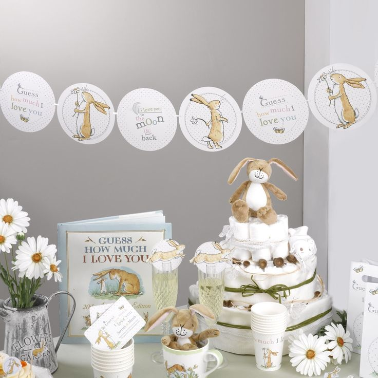 I Love You To The Moon & Back Baby Shower Decorations - Guess How Much I Love You