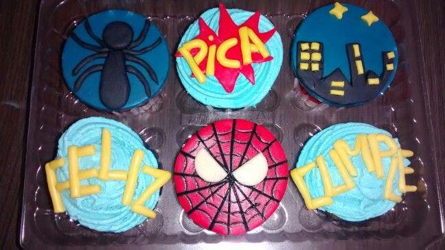 Cupcakes feliz cumpleaños spiderman