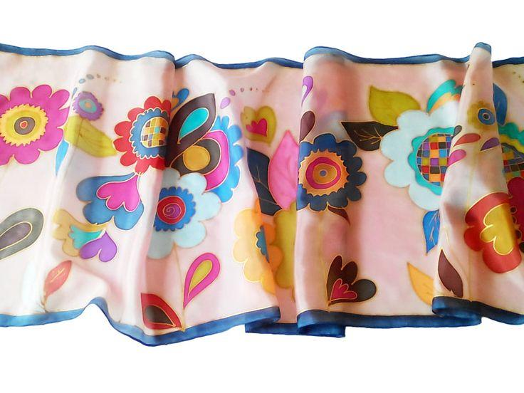 Ballagási ajándék ötletek tanároknak, óvónéniknek: Silkyway virágok selyemsál tavaszi színekben: http://silkyway.hu/silkyway-viragok.html