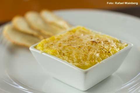 Vizta - Escondidinho de bacalhau com batata baroa (almoço)