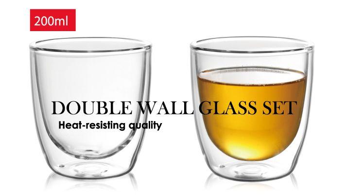 【楽天市場】ダブルウォールグラス2Pセット【中空耐熱グラス】DOUBLE WALL GLASS 2P SET ダブルウォールグラスペア 北欧雑貨 キッチン雑貨 引き出物 コップ 出産内祝い 結婚祝い ギフト プレゼント:Mayfair Online