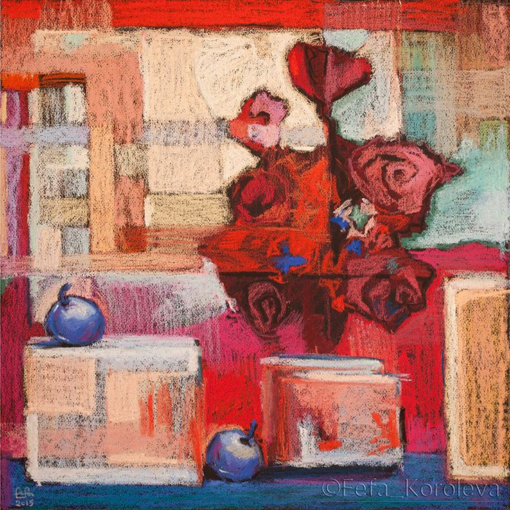 """August"" / ""Август"" materials: paper, pastel материалы: бумага, пастель size/размер: 45x45cm"