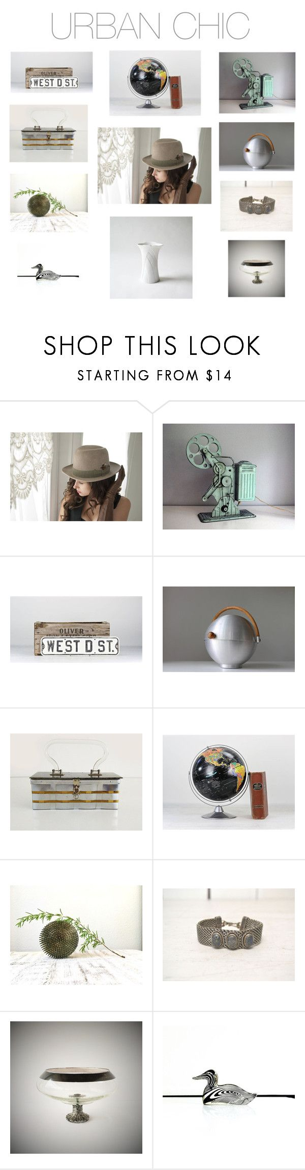 """Urban Chic Decor From the Vintage and Main Collective"" by averyandallen ❤ liked on Polyvore featuring interior, interiors, interior design, home, home decor, interior decorating, Ciel, Dorothy Thorpe, Kaiser and vintage"