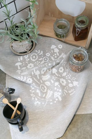 Linen Tea Towel - Scandi Scatter Print – Belle Hawk Photographed by Hello Petal Photography