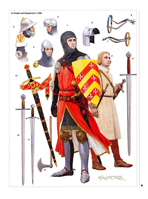 Knight and equip circa 1330