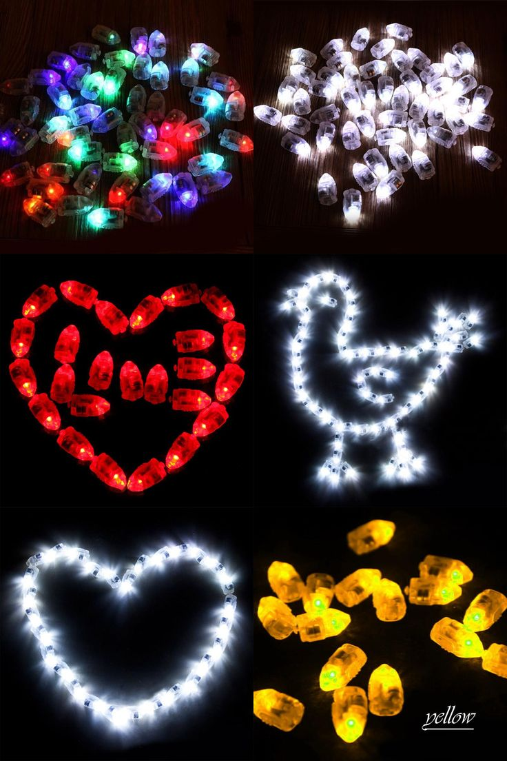 [Visit to Buy] 12pcs/lot LED RGB Flash Lamps Balloon Lights for Paper Lantern Balloon Light NOGOO balloon Wedding Decoration led party lights #Advertisement