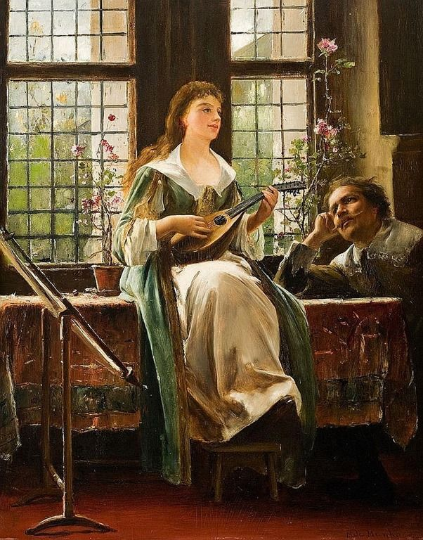 ♫ The Love Song → Mihaly Munkacsy