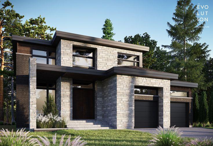 Plan maisonarchitecturebrique urbanika permaconplan personnaliséshawdow stone arriscraft