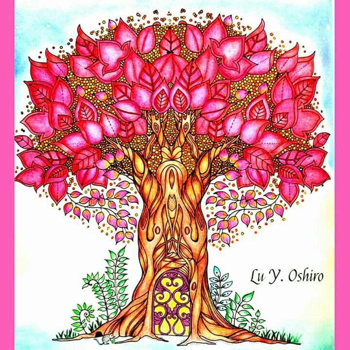 Happy Art Zen Doodle Adult Coloring Books Colouring Colour Schemes Zentangle Journals Johanna Basford Secret Garden