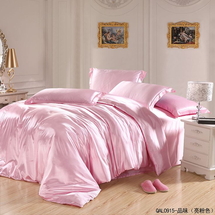 Taste Light Pink Bedding Silk Bedding