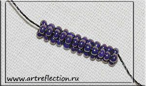 Triangular tubular herringbone tute. #seed #bead #tutorial