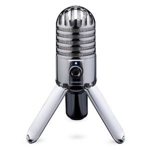 Samson Meteor Mic USB Studio #Microphone (Cardioid)      Product Features  Large (25mm) diaphragm condenser for rich audio recording  Cardioid pickup pattern  Smooth, flat frequency response of 20Hz-20kHz  CD quality, 16-bit, 44.1/48kHz resolution  Fold-back leg design provides optimal #mic positioning.    Price: $69.00 & this item ships for #FREE with Super Saver Shipping    You Save: 80.99$ (54%)
