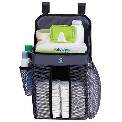 Baby Nursery Organizer Diapers Bath Fit Hanging Playards Store Lotion Wet Wipes #BabyNurseryOrganizer
