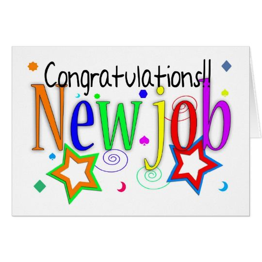 Congratulations New Job Greeting Card New Job New Job Wishes New Job Card New Job