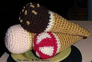 crochet ice-cream cones :)