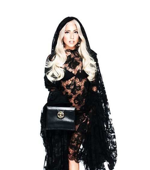 lady gaga lookin awesome -- little black riding hood