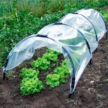 Dirt Cheap: Homemade Row Cover I'm using these for a couple reasons this year, to protect spinach/chard from leaf miners, and for peppers who love warm growing conditions.