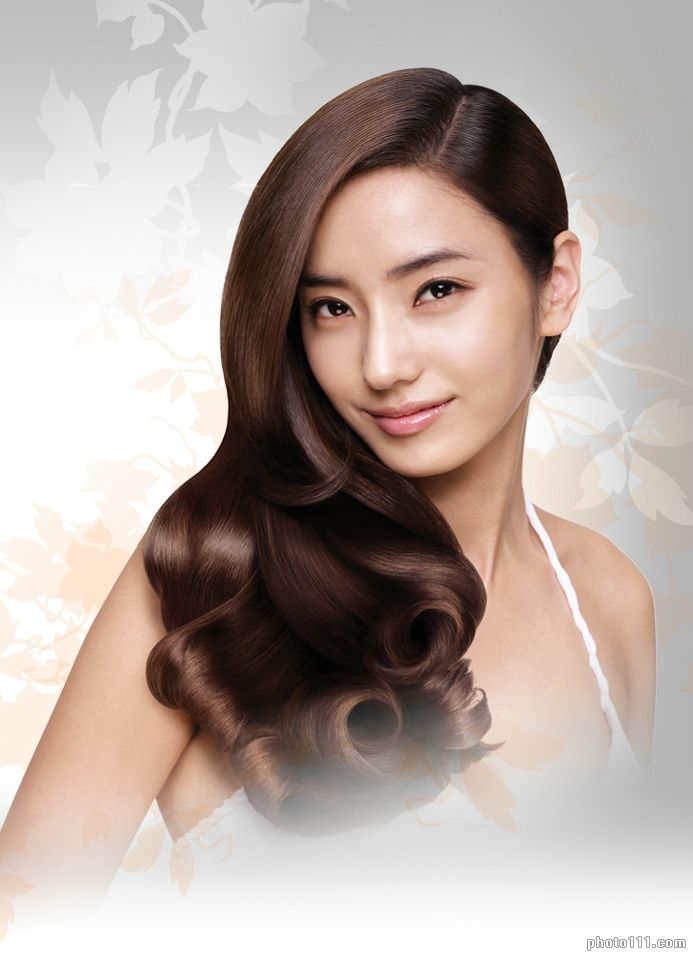 Han Chae Young Brown Long Straight Wavy