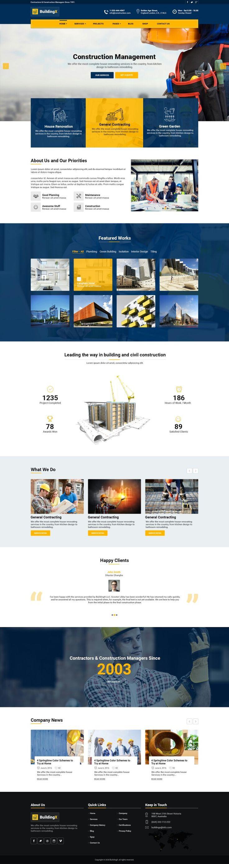 contractor website template