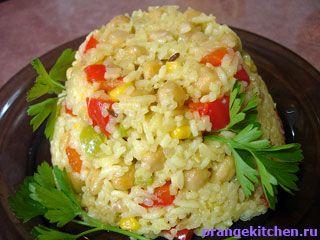 Вегетарианский рецепт плова с нутом и овощами