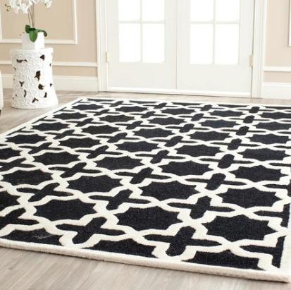 Black and white rug