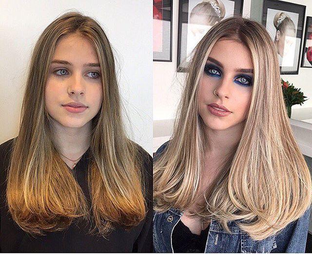 WEBSTA @ clubedaslouras - Mais um antes e depois, pq transformações aqui são sempre um sucesso! ☺️ Lindo demais o cabelo da @gabistacenco! Feito por @kelvelin, mesclado dois tons de loiro, gelo e mel!#lifestyle #tratamentos #penteados #loirailuminada #photo #loiromaravilhoso #loirolindo #loiroespetacular #instaloiros #cabelosfemininos #luzes #cabelocomluzes #cabelodivo #cabelotratado #loiro #loiras #loira #longbob #cabelocurto #mechas #transformacao #antesedepois #balayage #clubedasloura