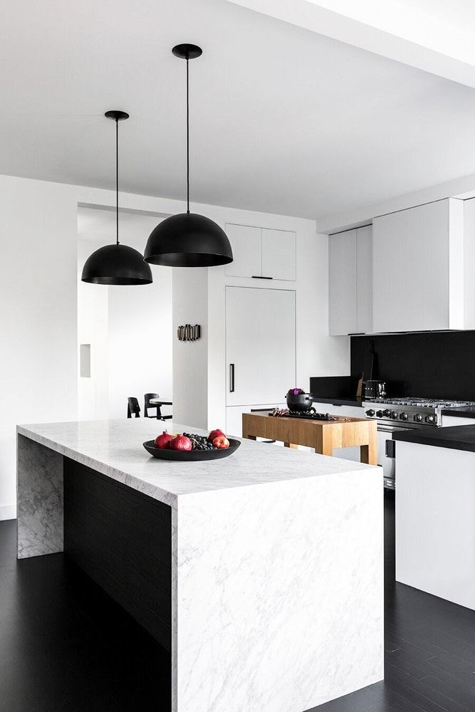 This Affordable Modern Home Design Is A Black And White Dream Modern House Design Contemporary Home Decor Home Decor Kitchen