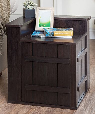 This Wood Crate Accent Table is perfect for the end of the couch by the wall in the corner! #zulilyfinds