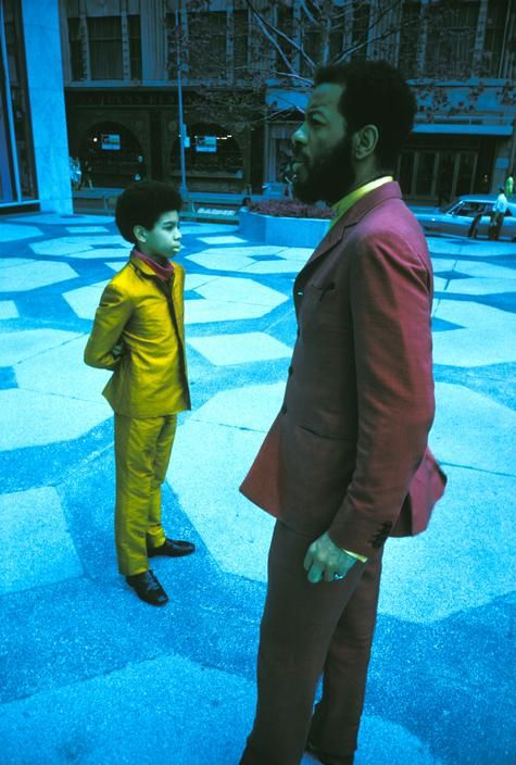 Ornette Coleman (saxophonist, violinist, trumpeter and composer) and his son Denardo