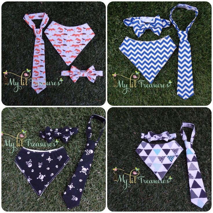 Li'l Guy Sets  Bandana bib, bow tie and tie $26  Bandana bib is backed with organic bamboo for super absorbency   Custom orders available  http://www.myliltreasures.com.au/