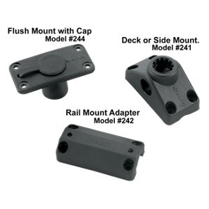 Optional Mounts for Scotty Rod Holders - Flush Mount with Cap