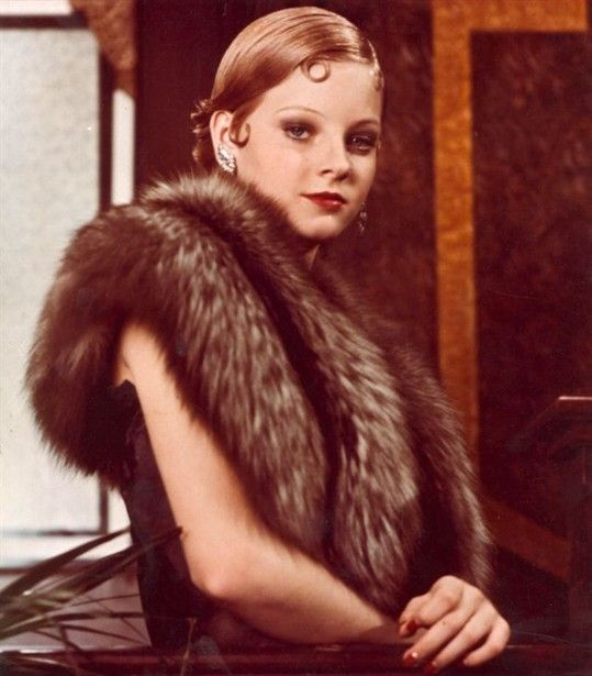 Young Jodie Foster in Bugsy Malone- Set in the 1920s...