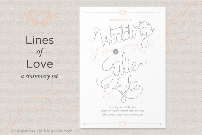 Lines of Love - a wedding stationery set by Happiness is...