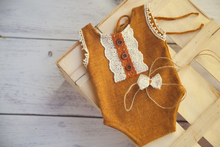 Vintage,wool newborn romper by MiLena Handmade Props