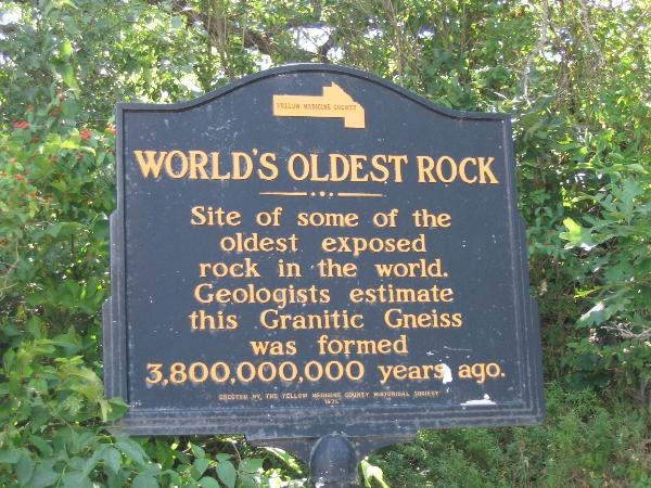 World S Oldest Rock Marker Located At The Yellow Medicine