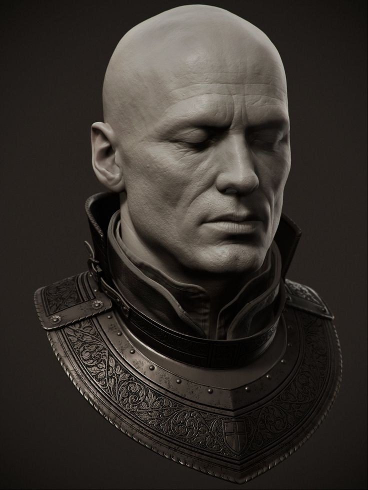 Galahad Head, adam skutt on ArtStation at https://www.artstation.com/artwork/galahad-head