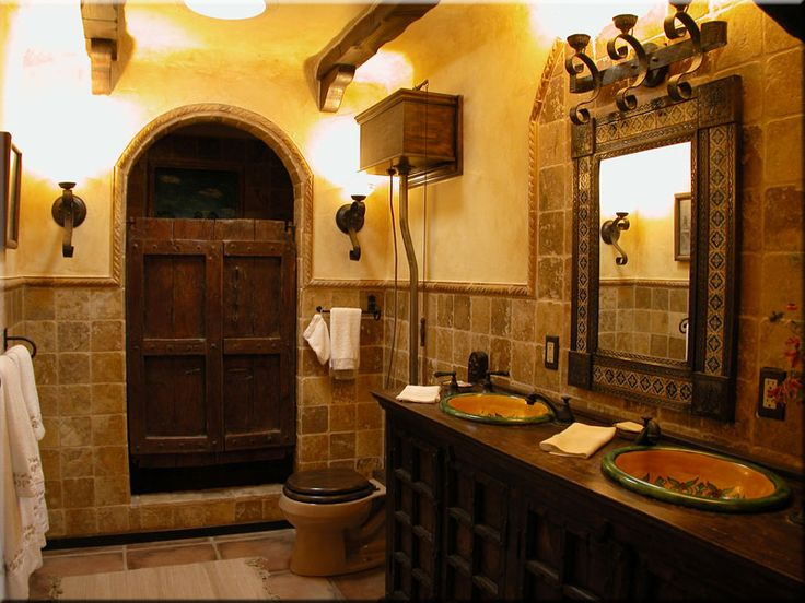 amazing spanish style bathrooms #1: I have a spanish style sink to put in a bathroom upstairs and am looking for