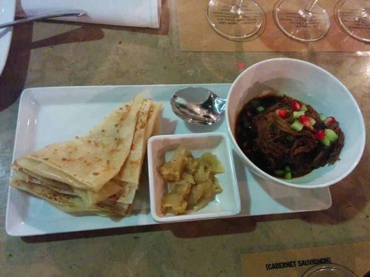 Blow The House Down; pulled pork w/ cardamon apple compote and roti - A: 3 B: 2.5