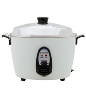 Tatung Rice Cooker -  A must-have!! It is a steamer that is for cooking rice, stew, soup, seafood, and others. Using it to warm up left over food is healthier than using microwave.